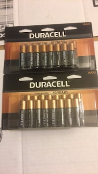 Duracell AA Batteries 16 Pack Lot of 2 Exp 2027 new in box