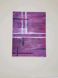 "Abstract art- ""Purple Sky""  Toronto, M1B 5J4"