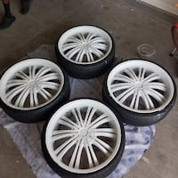 22 inch AVE Rims Model A601 With Lexani Tires - $5