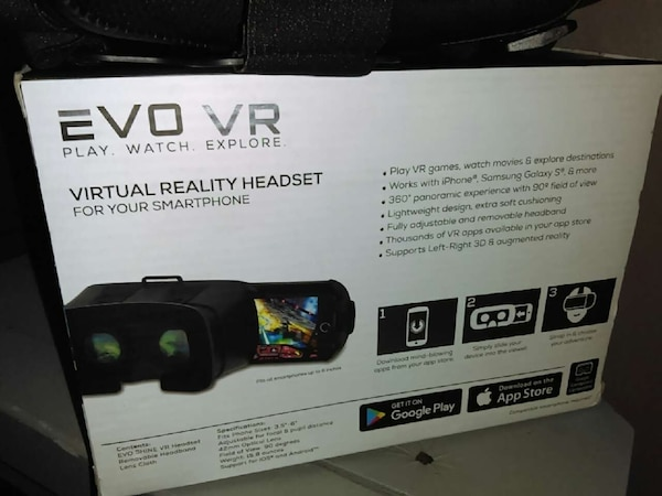 Used evo vr virtual reality headset for sale in Pompano