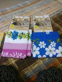 two blue and green floral textiles Bengaluru, 560078