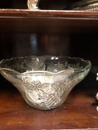 clear cut glass bowl with lid Oviedo