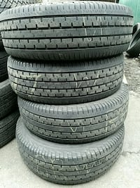 225 70 16 (4) YES WERE OPEN used tires free install