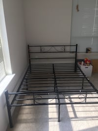 Full size bedframe and mattress