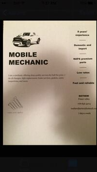 white and black mobile mechanic manual