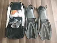 US Divers Snorkel/Fins Adult Medium Vine Grove