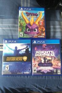 PS4 Games Agents of Mayhem-$10 Guitar Hero Live w Guitar-$20 Spyro-$20 Hamilton, L0R 1C0