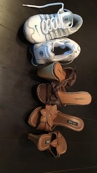 three pairs of assorted shoes Mississauga, L5B 0E8