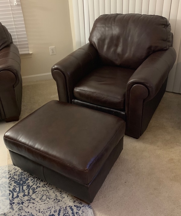 Leather Couch, Chair with Ottoman 691057ef-ac88-4cac-afa8-cc996381b1d4