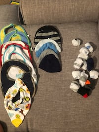 NB-6 month boy bibs, hats and socks  Sumter, 29154