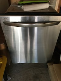 Stainless steel and black dishwasher Toronto, M9C 5C5