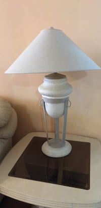 White and gray table lamp Lincolnwood, 60712