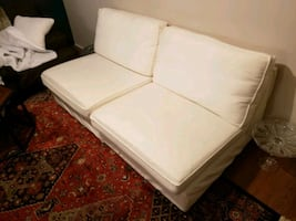 Comfy white couch - loveseat or 2 chairs