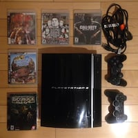Original Sony PlayStation 3 PS3 with 2 controllers, games and remote Toronto, M5V