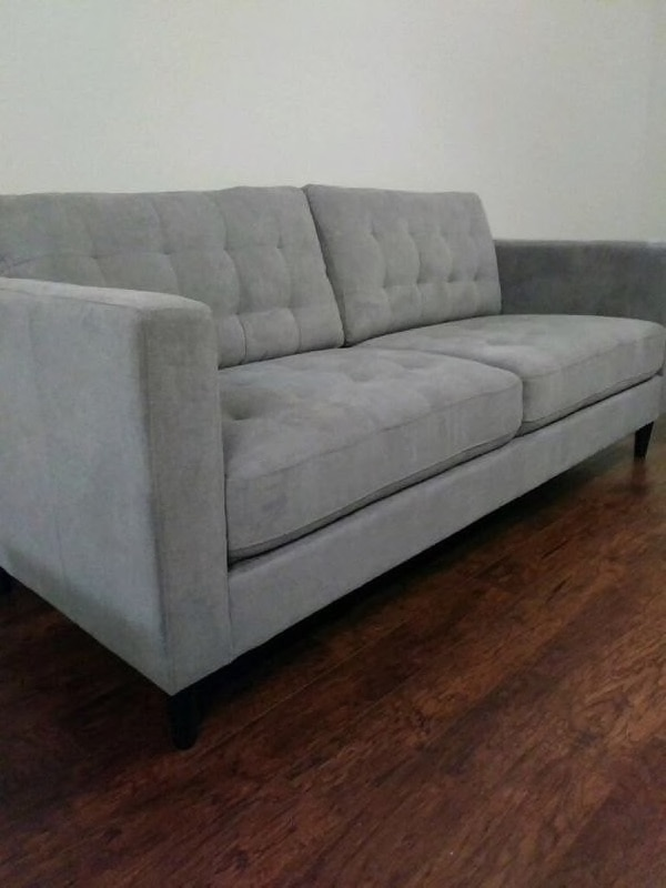 Brand New 2pc grey Microfiber Sofa Set. Delivery and Assembly included!