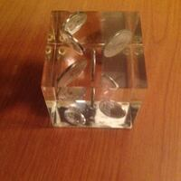"""Buffalo Nickels floating Paperweight in Lucite decorative piece 2-1/2 """" square! Saint Petersburg, 33701"""