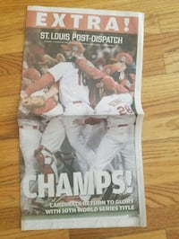 2006 world series champs PD paper St. Louis, 63119