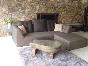 Sofa- Brown and Black