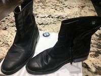Pair of black leather boots Classic Leather Motorcycle Boots by BMW size 46 Toronto