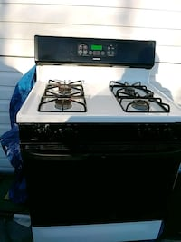 white and black 4-burner gas range oven Queens, 11691