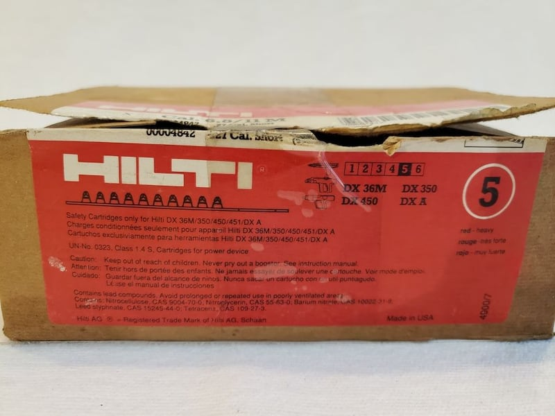 9 Yellow + 67 Red Lot of Hilti Cal.  (Phone number hidden by letgo) 04842 Cal. 27 Short #5  838171e8-f6af-490b-8f3a-5c648675480c