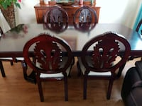 Formal Solid Dining table with 6 chairs Fort Belvoir