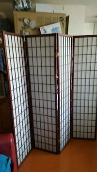 white and brown wooden room divider Burnaby, V5J 0A2