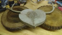 2 table stands1 wall hanging heart with deer antle Woodbine, 21797