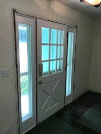 Nice Door with sidelites includes white aluminum screen door Whitewater, 53190