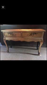 Hand painted gold finish vintage table with drawers Jonesboro, 72401