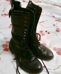 size 8 women's military faux leather boots  Toronto, M9R 1T8
