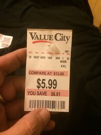 $5.99 Value City price tag Jersey Shore, 17740