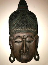 Buddha carved wood. Queens, 11375