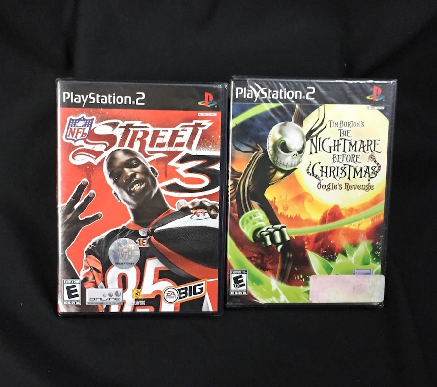Photo Brand New ps2 game lot NFL Street 3 Nightmare before Xmas