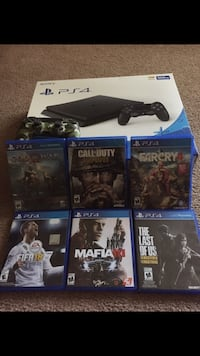 Ps4 with, games ,charger, and controllers  Charlotte, 28211
