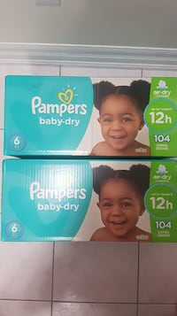 2 brand New pampers baby dry size 6 104 count Mississauga