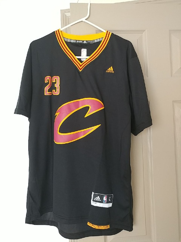 quality design c314f 5341f black, red, and yellow Adidas Cleveland Cavaliers 23 Lebron James jersey  shirt