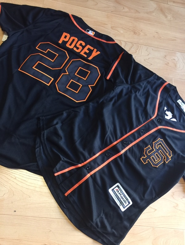 9282ecb05 Used two blue and orange San Francisco Giants baseball jerseys for ...