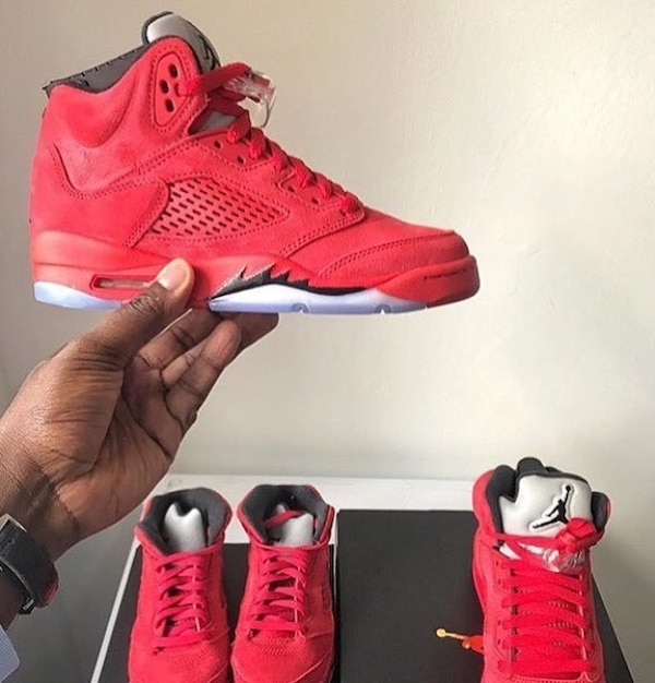 b874a5e9b96d Used pair of red Air Jordan 5 s for sale in Atlanta - letgo