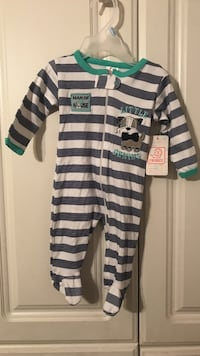 toddler's green, white and gray stripes printed footies Altoona, 16601