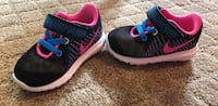 Pair of black-and-pink nike running shoes Edmonton, T5X 3A1
