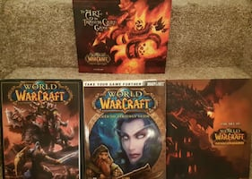 4 WARCRAFT books  Art of the Trading Card Game Tribute Official Strate