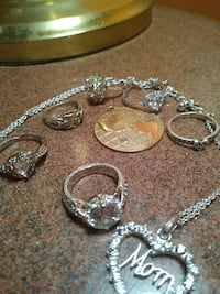 Miscellaneous sterling silver items &10 karat gold.
