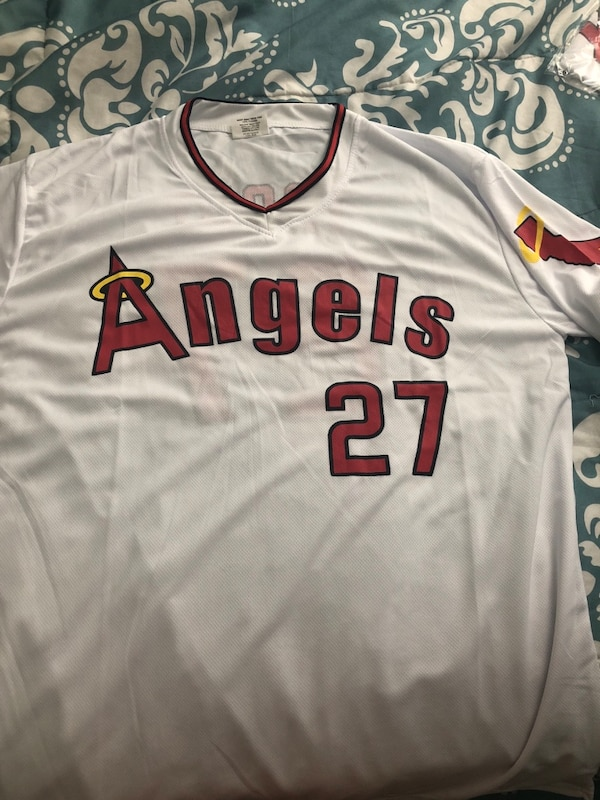 pretty nice e32b8 63d4b Mike Trout Throwback Jersey angels baseball