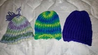 3 pack of newborn sized hats  Brampton