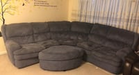 Gray suede sectional sofa with ottoman Bethesda, 20814