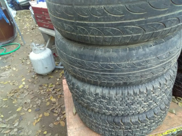 "15"" GM truck tires with stock rims."