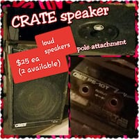 Crate speakers  Tulsa, 74112