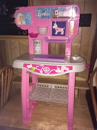 pink and white Barbie vet table playset Chesapeake