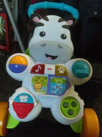 white and blue Fisher-Price learning walker Burnaby, V5E 2Z6